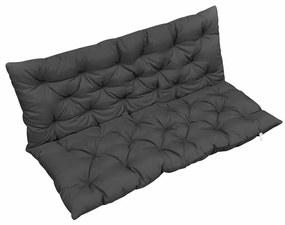 47650 vidaXL Almofadão para cadeira de baloiço 120 cm tecido antracite