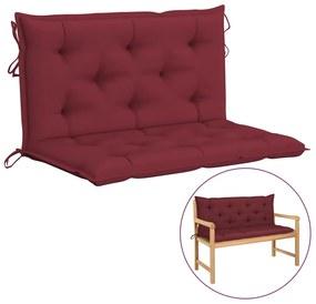315001 vidaXL Almofadão para cadeira de baloiço 100 cm tecido vermelho tinto