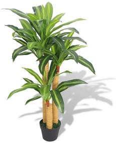244451 vidaXL Planta dracena artificial com vaso 100 cm verde