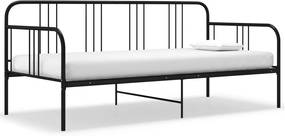 Sofá-cama 90x200 cm metal preto