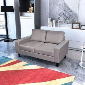 Sofá de 2 lugares em tecido cinzento claro