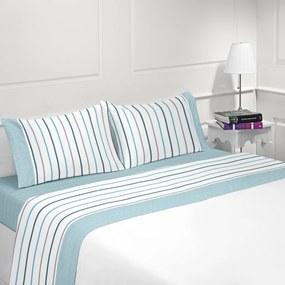 Jogo de lençóis 100% algodão - PRAGA da Casa&Algodão: cama 140/150cm - 1 lençol superior 240 x 290 cm + 1 lençol inferior 240 x 290 cm + 2 fronha almofada 50x70 cm