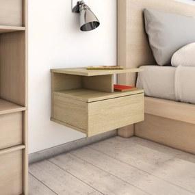 Mesa cabeceira suspensa 40x31x27 cm contraplacado carv. sonoma