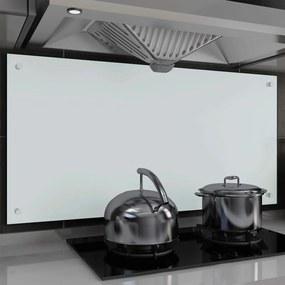 249465 vidaXL Painel anti-salpicos de cozinha branco 120x60cm vidro temperado