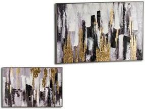 Tela Tela (122 x 4,5 x 82 cm) Dourado Prateado