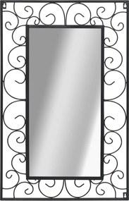 Espelho de parede retangular 50x80 cm preto