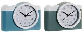 Tafelklok DKD Home Decor Despertador Câmara fotográfica PVC (2 pcs) (13.6 x 4.6 x 9.6 cm)