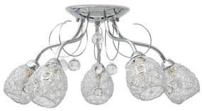 50501 vidaXL Candeeiro de teto para lâmpadas 5 G9, 200 W