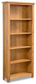 244469 vidaXL Estante com 5 prateleiras 60x22,5x140cm madeira carvalho maciça