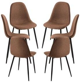 Pack 6 Cadeiras Teok Black Tecido