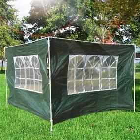 Outsunny 2 Lado Partições para tenda 3x3 m 3x6 m Gazebo À Prova D 'Água com janela 300x200 cm
