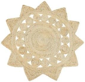 Tapete de juta creme estrela ⌀ 120 cm ARABAN