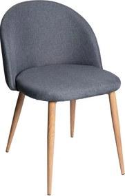 Cadeira Bristol Tecido Cor: Cinzento-escuro