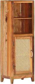 Armário alto 40x30x122 cm madeira recuperada maciça