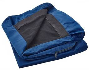 Capa para sofá de 3 lugares de veludo azul BERNES