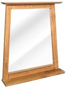 246038 vidaXL Espelho p/ casa de banho em pinho reciclado maciço 70x12x79cm