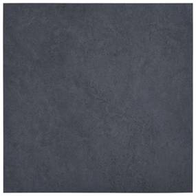 146238 vidaXL Tábuas de soalho autoadesivas 5,11 m² PVC mármore preto