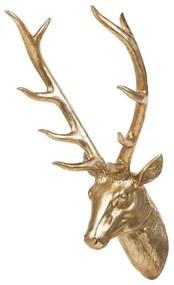 Estatueta decorativa 67 cm dourada DEER HEAD