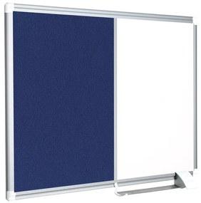 Quadro Combinado 45x60cm Feltro Azul/branco Moldura Alumínio New Generation