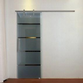 HOMCOM Acessórios para portas deslizantes Trilhos deslizantes com parafusos 2.5x200 cm