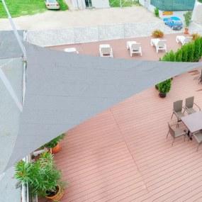 Toldo Vela triangular 3x3x3m para Terraço Jardim Camping cinza