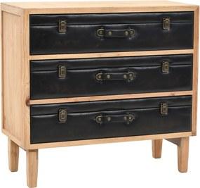 Armário com gavetas madeira de abeto maciça 80x36x75 cm