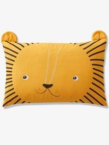 Fronha de almofada, Meu pequeno leão, para bebé laranja medio liso com motivo