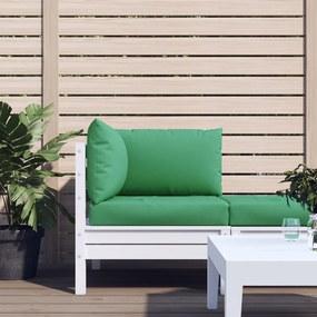 315069 vidaXL Almofadões para sofás de paletes 3 pcs tecido verde