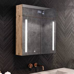 Armário com espelho e com iluminação LED L02