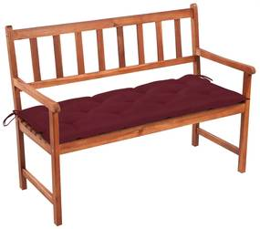 3063792 vidaXL Banco de jardim c/ almofadão 120 cm madeira acácia maciça