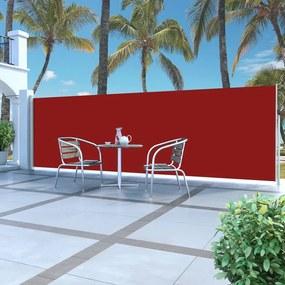 45463 vidaXL Toldo lateral retrátil 160 x 500 cm vermelho