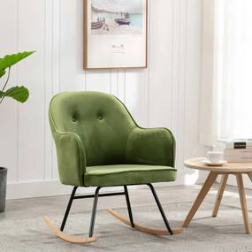 Cadeira de Baloiço Veludo Verde-claro