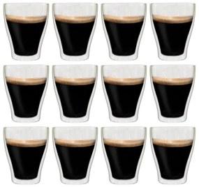 50838 vidaXL Copos para latte macchiato de parede dupla 12 pcs 370 ml