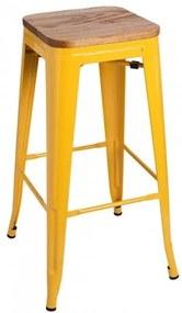 Banco Leeds Madeira Cor: Amarelo