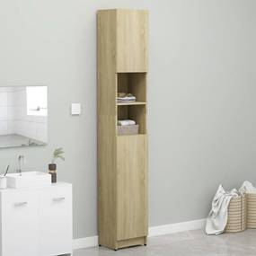 802879 vidaXL Armário de casa de banho 32x25,5x190cm contraplaca. carvalho