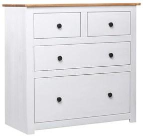 282657 vidaXL Aparador 80x40x83 cm madeira de pinho Panama branco