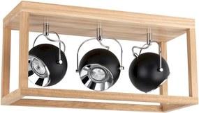 Spot-Light 5224374 - Luz de teto LED ROY 3xGU10/5W/230V carvalho MATE
