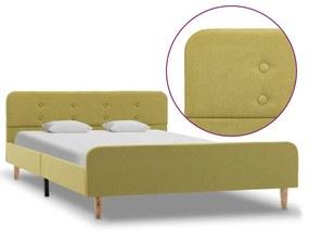 284914 vidaXL Estrutura de cama 120x200 cm tecido verde