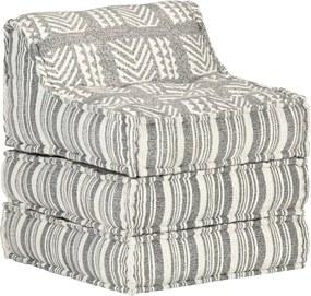 Sofá lounge modular tecido preto