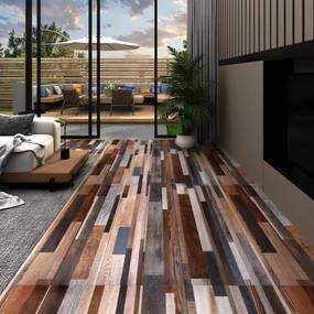 146573 vidaXL Tábuas de soalho PVC 5,26 m² 2 mm multicor