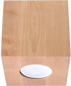 Luz de teto QUAD 1xGU10/40W/230V madeira