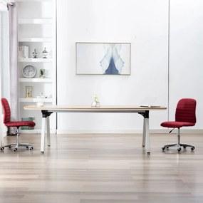 283607 vidaXL Cadeiras de jantar 2 pcs tecido vermelho tinto