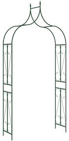 47094 vidaXL Arco de jardim 120x38x258 cm ferro verde-escuro
