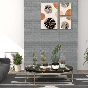 150722 vidaXL Papel de parede 3D autoadesivo tijolos 20 pcs antracite
