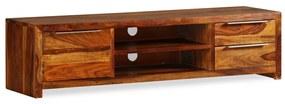 243945 vidaXL Móvel de TV madeira sheesham sólida 120x30x30 cm