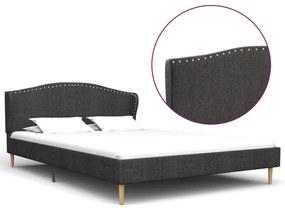 280638 vidaXL Estrutura de cama em tecido 200x120 cm cinzento-escuro