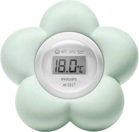 Termómetro digital 2 em 1, em forma de flor, da Philips AVENT verde claro liso