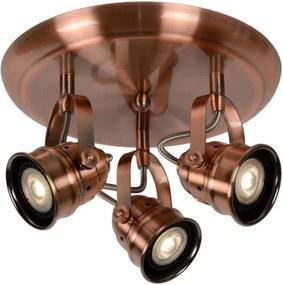 Lucide 77974/15/17 - Foco LED CIGAL 3xGU10/5W/230V cobre