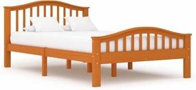 Estrutura de cama 120x200 cm pinho maciço castanho mel