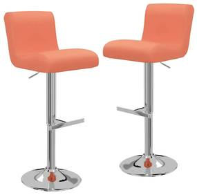 323160 vidaXL Bancos de bar 2 pcs couro artificial laranja